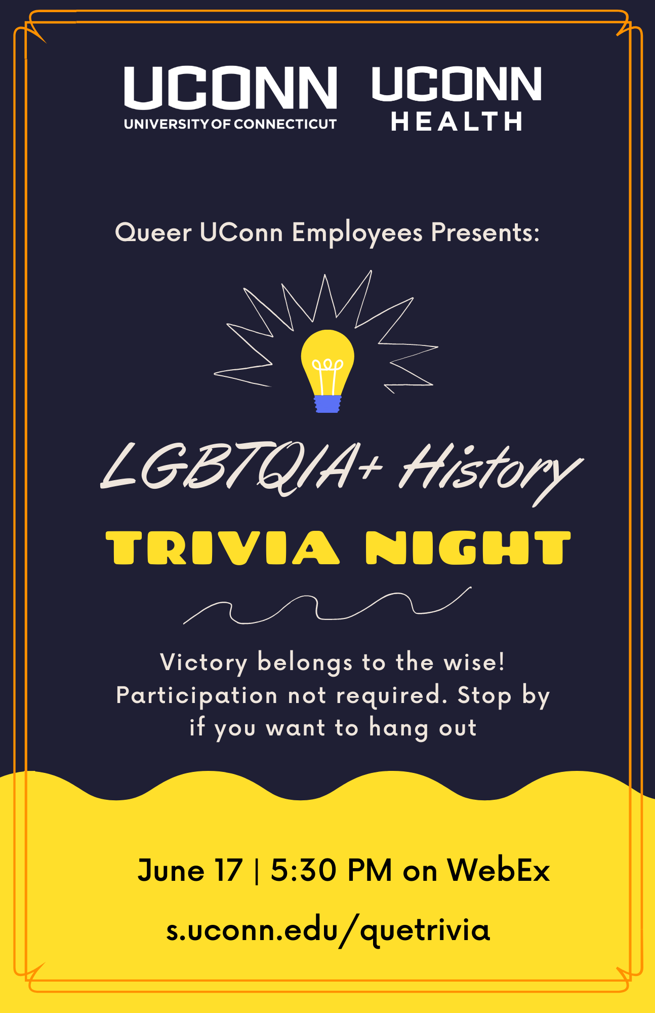 Image button to PDF flyer for June 17, 2021 Virtual Trivia Night